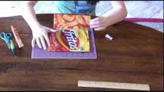 How to Make a Chip Bag Duct Tape Wallet - YouTube