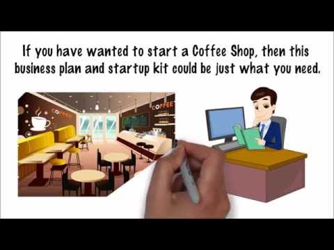Starting a Coffee Shop  - Business Plan Template and Start up Package