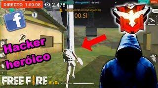 HACKER de FREE FIRE transmite en vivo por FACEBOOK!! 😱 *Es MANCO*