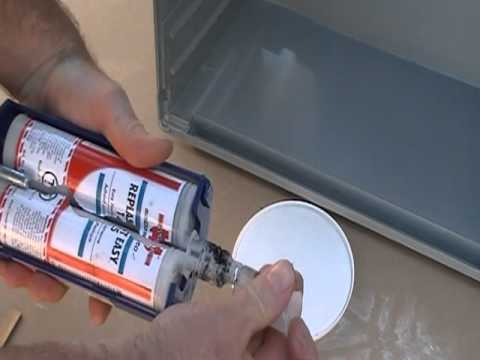 strong glue repair - This is a short video on a 2 a part epoxy that i use to repair everything from plastic,wood,fibreglass and metal. Can be sanded afterwards to a smooth finish.