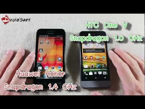 DroidSans Review : HTC One V and Huawei Honor (in Thai)