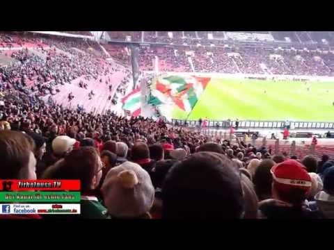 VfB Stuttgart - FC Augsburg 1:4 (0:2) | Gästeblock | 09.02.2014 (видео)