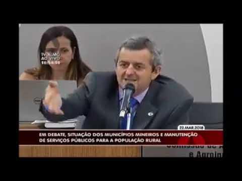 Em audiência pública, Antonio Carlos Arantes fala sobre a situação dos municípios mineiros