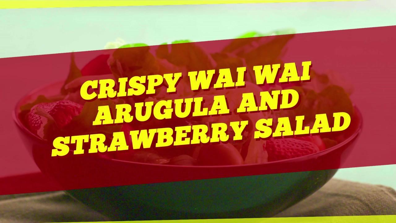 Crispy Wai Wai, Arugula and Strawberry Salad Recipe