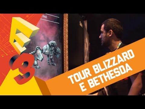 Blizzard press tour - E tem mais tour direto do nosso canal do Baixaki Jogos no YouTube! Agora, chega a hora de ver o que as gigantes Activision Blizzard, Bethesda e Alienware pre...