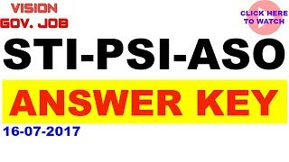 ANS KEY  first answer key of combine exam  PSI STI ASO exam  #VISION STUDY MPSC साठी चे बाकीचे LECTURES ...