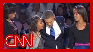 "Sasha Obama reminds dad ""Behind you!"" - YouTube"
