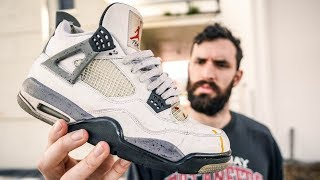 Video update: AFTER WEARING THE JORDAN 4 WHITE CEMENT FOR 7 YEARS! (Pros & Cons) MP3, 3GP, MP4, WEBM, AVI, FLV Februari 2019