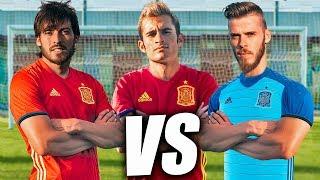 DE GEA VS DAVID SILVA VS DELANTERO09 - Retos de Fútbol