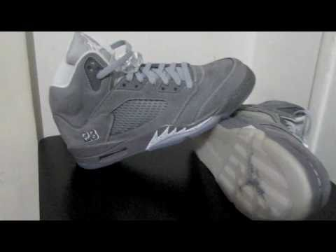 0 Air Jordan V (5) Retro   Light Graphite   Wolf Grey   White | Video Preview