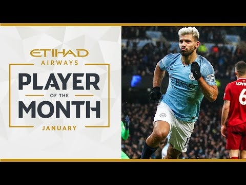 Video: ETIHAD PLAYER OF THE MONTH | Sergio Aguero | January
