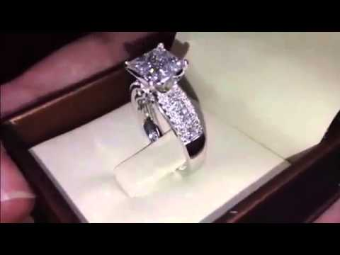 Princess Cut Diamond Engagement Ring VS2 Clarity Grade