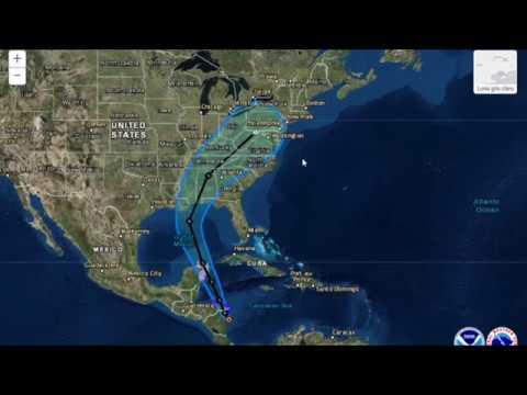Tormenta Nate se convertirá en huracán el domingo pasara por honduras Y Nicaragua  Camino a USA