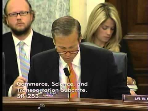 U.S. Senator John Thune questioned top executives at General Motors and Delphi about their failures resulting in the GM ignition switch recall. (Thune.senate.gov)