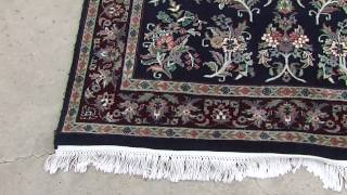 Beautiful 6x4 Blue Persian Carpet Sarouk Oriental Rug On EBay