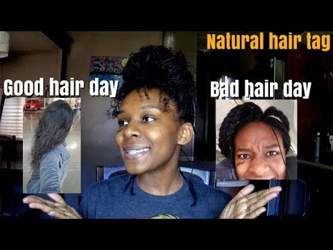 best and worse hair day tag funny pictures included/natural hair tag