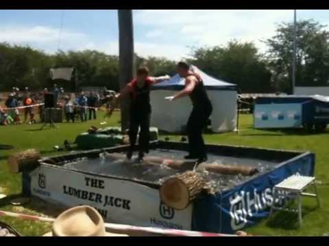 The Lumberjack Show – Log Rolling – The Best Lumberjack Show