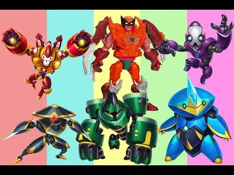 Wrong colors Big Hero Robots for kids - 공룡 대 상어 싸움 | 아이들을위한 공룡 상어 만화 | 현실에서 공룡 먹는 상어