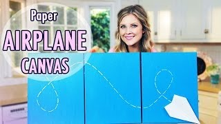 DIY Airplane Canvas!! - YouTube