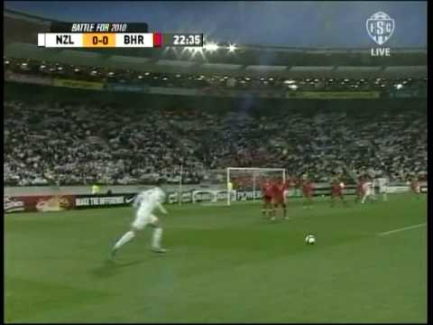 Primer tiempo del partido Nueva Zelanda vs Bahrain