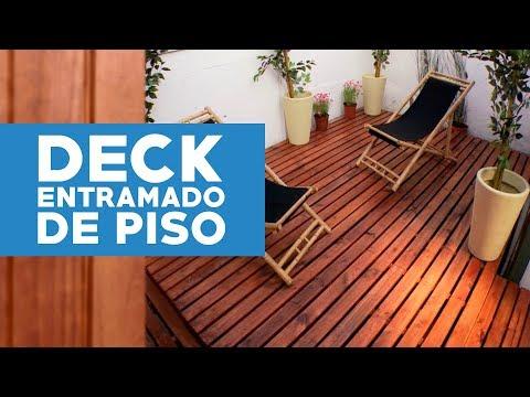 ¿Cómo construir un deck o entramado de piso?