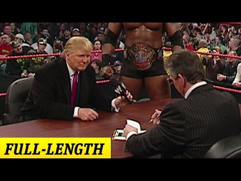 donald trump - Mr. McMahon and Donald Trump make their Battle of the Billionaires Match official on Raw.