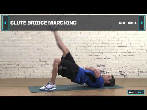 The Program | In-Season Hockey Training: Warm Up – Glute Bridge Marching