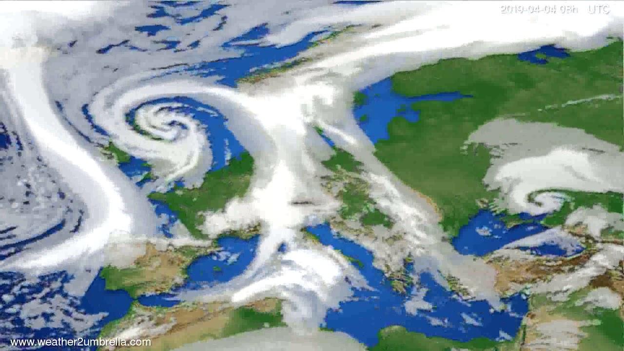 Cloud forecast Europe 2019-04-01