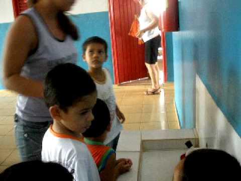 Andrei na Creche 1º dia (Porto Esperidião-MT)