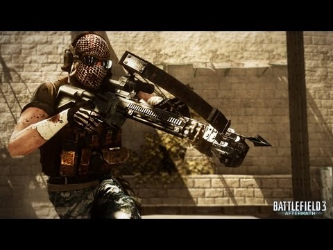 Rise from the ashes and fight for survival! In Battlefield 3: Aftermath, players fight for supremacy amongst shattered streets and buildings across four earthquake ravaged maps. This launch trailer features footage from all four maps and features the new