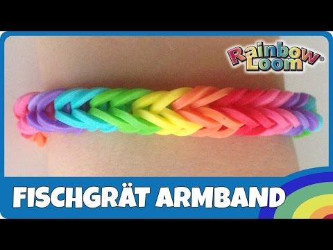 RainbowLoom Fischgrät-Armband (Anleitung deutsch)