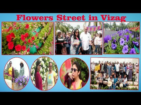 Beautiful Flowers Street attracts  at Sun Ray  Resorts in Visakhapatnam..
