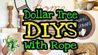 Dollar Tree DIY Farmhouse Home Decor / Dollar Tree Rope DIYs