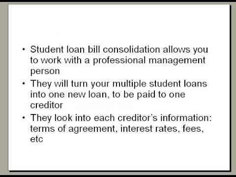 Student Loan Bill Consolidation