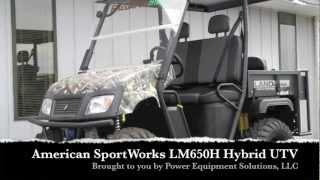 6. American SportWorks Landmaster LM650H Gas Elect Hybrid Camo UTV