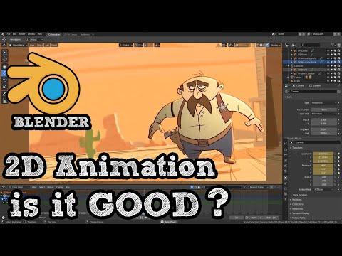 is Blender good for 2D animation
