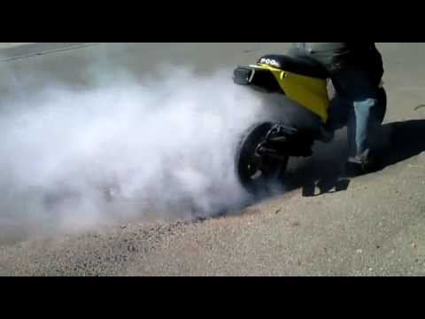 Burnout 150 ccm pgo hot 50 (Piaggio skipper engine)