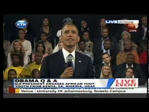 kenya - President Obama responds why he did not visit Kenya in S. Africa as questions were fielded from all over Africa Watch KTN Streaming LIVE from Kenya 24/7 on h...