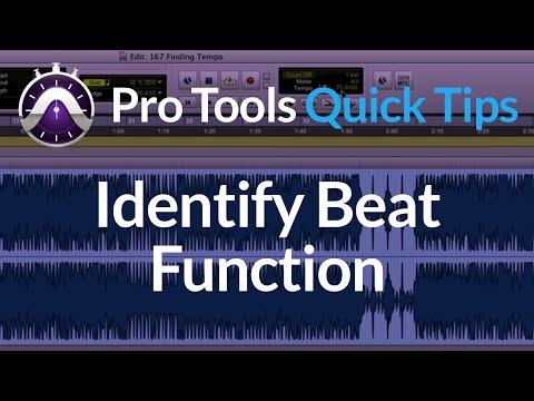 Finding the Tempo of a Track in Pro Tools