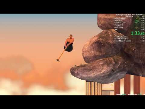 Getting Over It Speedrun In 4:21