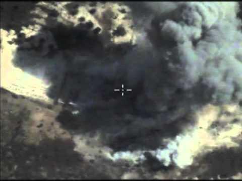 Новые видео ударов ВКС РФ по позициям террористов