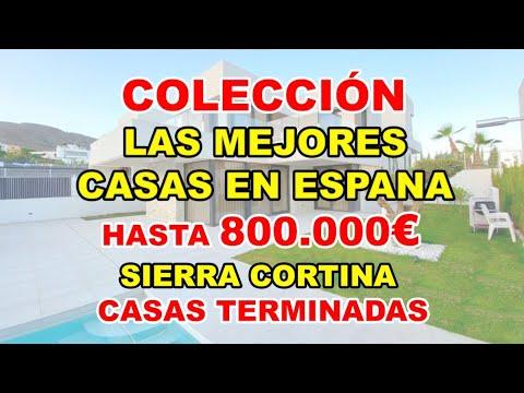 Hasta 800000€/Sierra Cortina/MEJORES CASAS NUEVAS TERMINADAS en Finestrat/Vídeo Casas en España