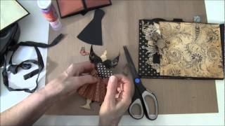 Part 16 How to build a photo mini album. Welcome to part 16 .In this video tutorial we are finish the 10, side and make some inserts, booklet and tags. I hav...