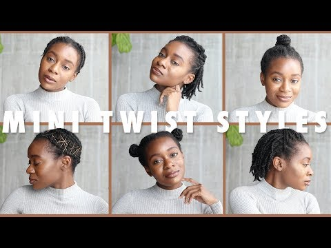 Hairstyles for short hair - 6 Quick and Easy Mini Twist Hairstyles For Short 4B/4C Natural Hair