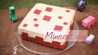 How to make a real life Minecraft cake