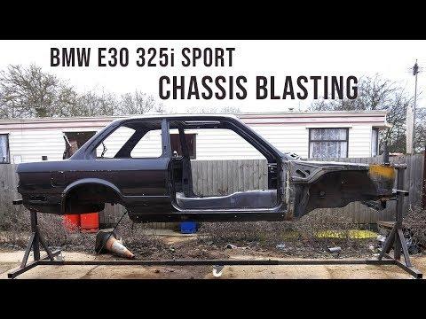 BMW E30 Chassis Shot Blasting Time-lapse Restoration | BMW E30 325i Sport Restoration S1E10