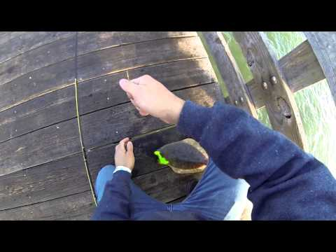 Seawolf Park Flounder Fishing Galveston, Tx (Gulp Alive) 720p HD
