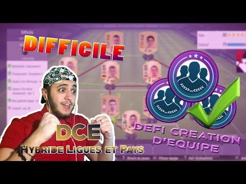HYBRIDE LIGUES ET PAYS | DIFFICILE | DEFI CREATION D'EQUIPE | FUT 18