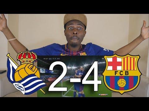 Real Sociedad vs Barcelona 2-4 All Goals ● Live Reaction
