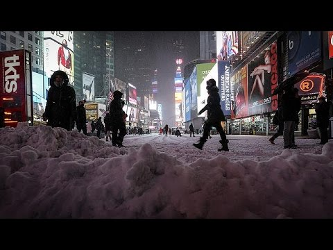 New York snowstorm less severe than feared